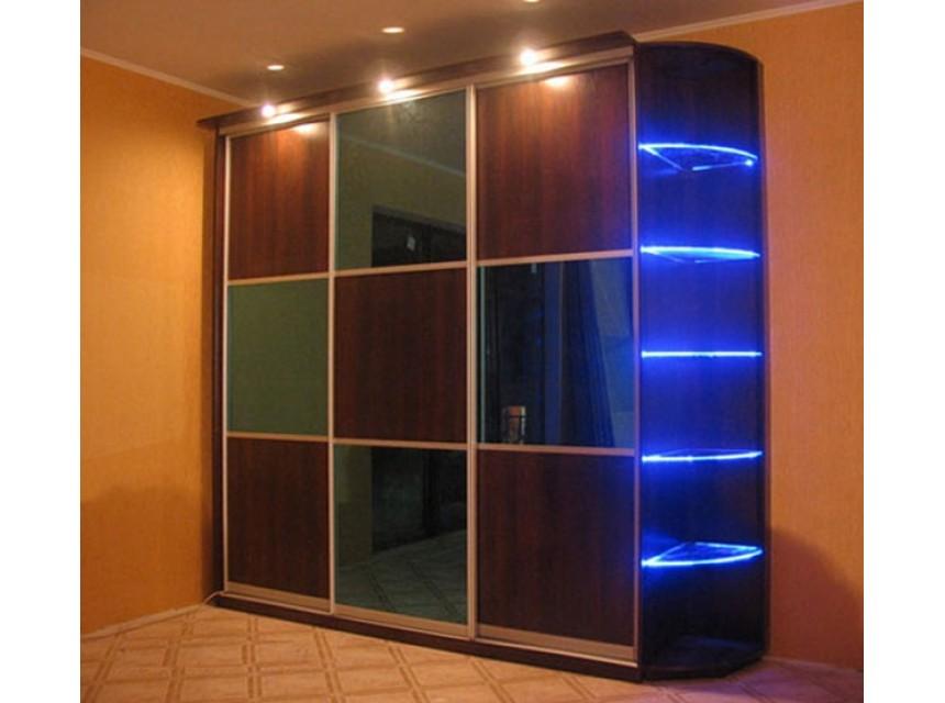 Шкаф-купе с неоновой подсветкой - купить линейные шкафы-купе.